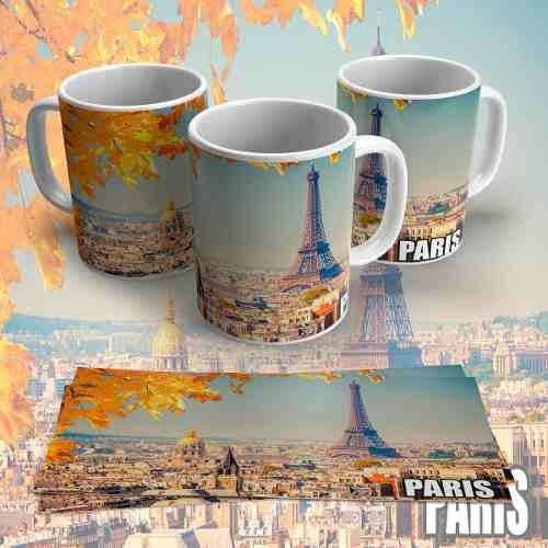 Caneca Cartão Postal Paris Personalizada