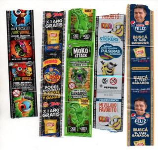 Lote Cintas Promocionales Paquetes Pepsico Snacks Tazos Lays