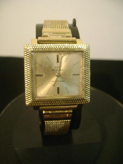 Relógio De Pulso Feminino Olvino A Corda Plaque De Ouro