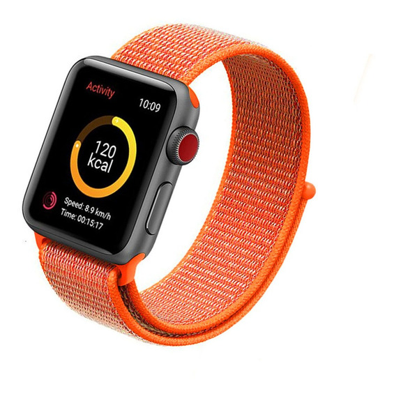Pulseira Nova Nylon Loop Compatível Com Apple Watch E Iwo