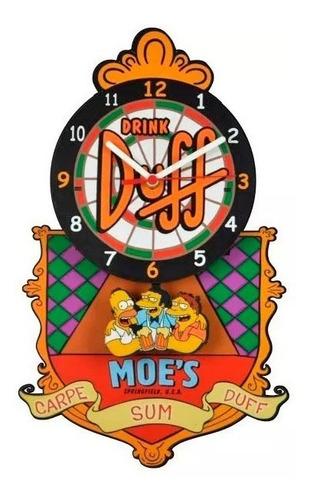 Imagem 1 de 3 de Relógio Duff Moes Simpsons Com Base - Mdf - Promoção