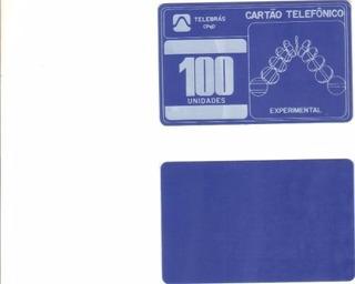 Cartão Pioneiro Teste 100 Unidades Experimental Telebrás