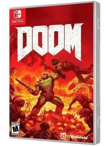 Jogo Doom Nintendo Switch Mídia Física Lacrado