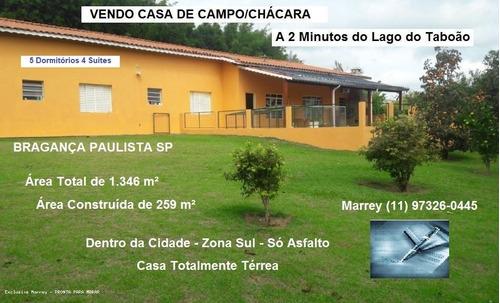 Sítio / Chácara Para Venda Em Bragança Paulista, Chácara Portal Das Estâncias, 5 Dormitórios, 4 Suítes, 5 Banheiros, 10 Vagas - 3032_1-1742405