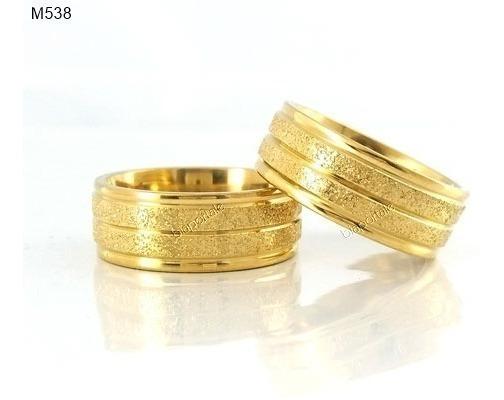 Par Alianças 8mm Banhada Ouro 18k Caixinha Veludo Gravação