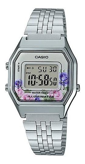 Relógio Casio Vintage Prata La680wa-4cdf Original + Nf