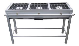 Estufa Industrial Con 3 Quemadores De Aluminio