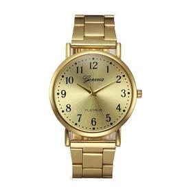 Kit 2 Relógios Feminino Dourado Estiloso Vintage