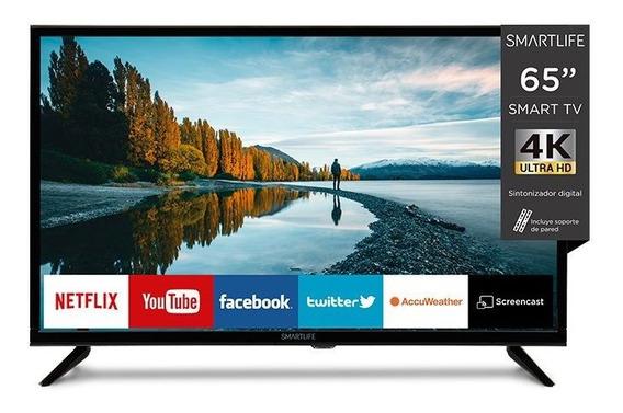 Led Smartlife Tv Smart Tv 4k 65 Con Soporte De Pared Goex