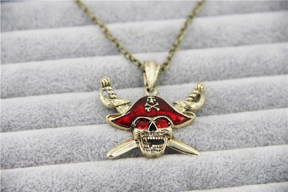 Cordão Com Pingente Piratas Do Caribe Jack Sparrow