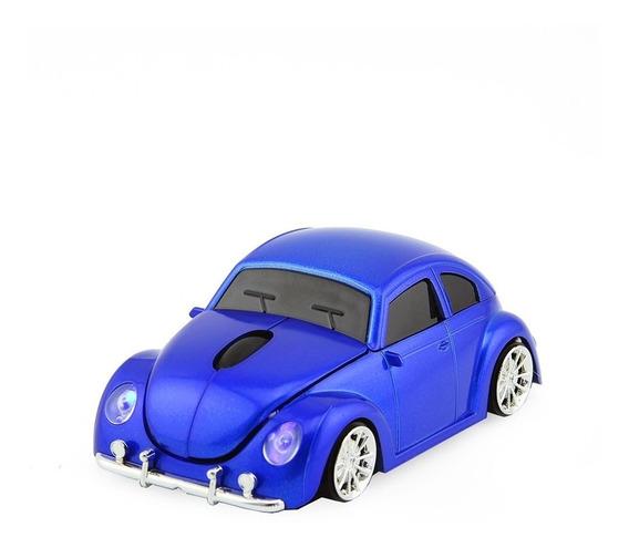 Mouse Fusca Vw Beetle Usb Optical Wireless - Sem Fio