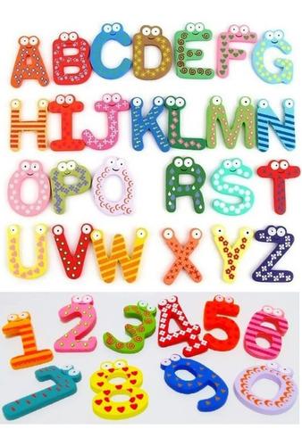 Pack 52 Letras Y 20 Números Con Iman Juego Didactico Niños