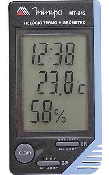 Relogio Termo-higrometro Digital 20-80rh Minipa Mt-242a
