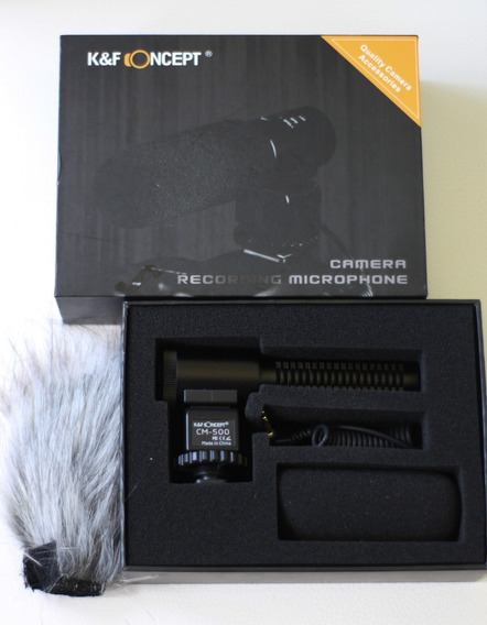 Microfone Shotgun Cm-500 Para Fotografia Com Câmera Dslr