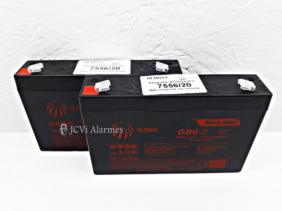 Kit 2 X Bateria Mini-carro Elétrico 3-fm-7 (6v7ah/20hr)