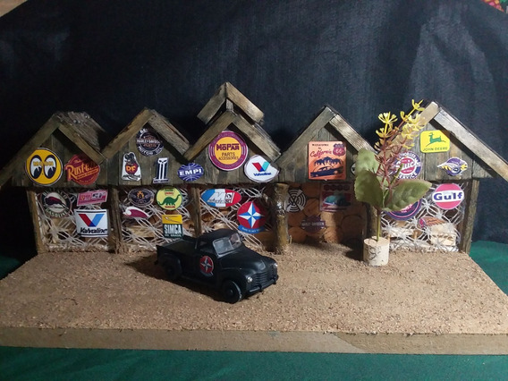 Diorama Fachada C/ Miniatura Chevrolet 3100 55i Escala 1/32