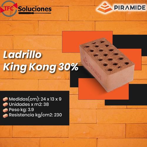Imagen 1 de 7 de Ladrillo Piramide King Kong 30% - Puesto En Obra - S./ 1.80