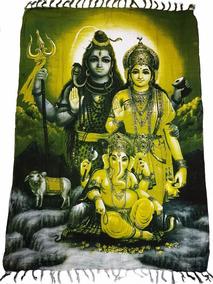 Canga De Praia Indiana Deuses Hindus Parvati Shiva Ganesha