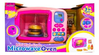 Microondas C/ Tiempo Luz Sonido Y Comidas Cod 9906 Bigshop
