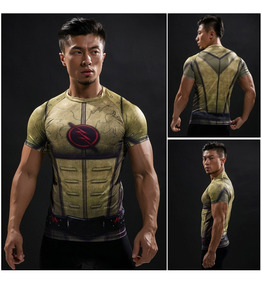 Camisa Da Liga Da Justiça Compressão 3d Superman Camiseta