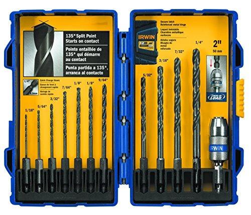 Morse #7 Drill Bit HSS 135° Split Point Tin Coated Drills USA Made 12 Pack