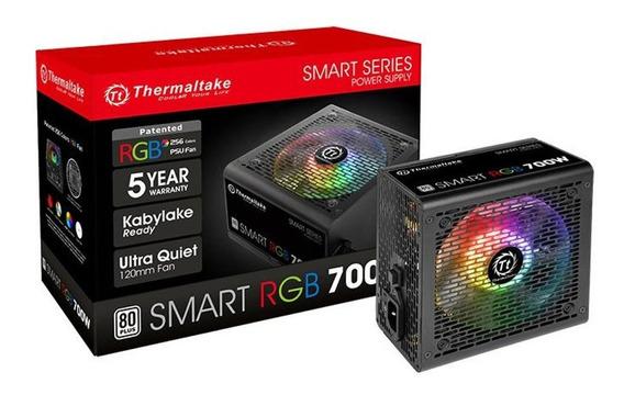 Fonte Atx - 700w - Thermaltake Smart Rgb 80 Plus - Preta - Ps-spr-0700nhfawb-1