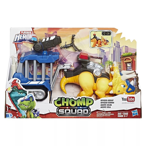 Dinossauro Chomp Squad Trailer - Agente Celda - Hasbro