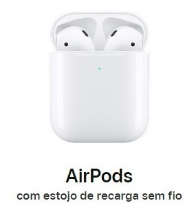 Apple AirPods Com Estojo De Recarga Sem Fio 2ª Geração