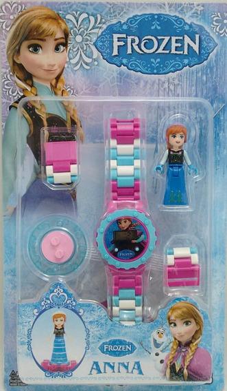 Relógio Digital Frozen + Aumento De Pulseira + Boneca