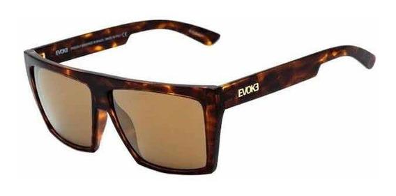 Oculos Sol Evoke Evk 15 G21s Marrom Tartaruga Dourada Espelh