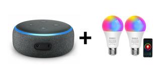Oferta! Echo Dot 3era Gen Alexa + 2smart Led/luz Inteligente