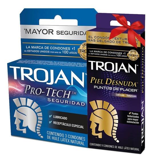 Kit 3 Condones Protech + 9 Condones Piel Desnuda Trojan