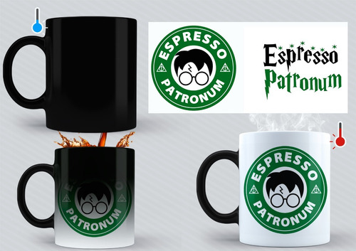 Taza Mágica(térmica) Harry Potter Starbucks Espresso