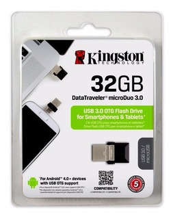 Pendrive Para Celular 32gb Kingston Dt Microduo Usb Otg
