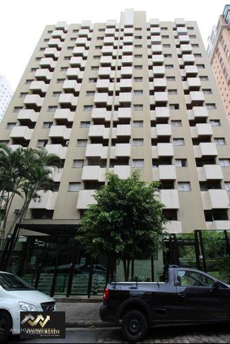 Imagem 1 de 30 de Flat Com 1 Dormitório Para Alugar, 32 M² Por R$ 3.850,00/mês - Moema - São Paulo/sp - Fl0018
