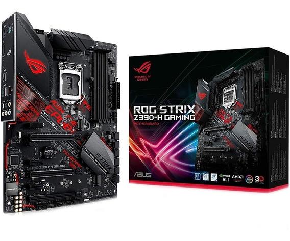 Placa Mãe Asus Rog Strix Z390-h Gaming 1151 9 Geração Z390