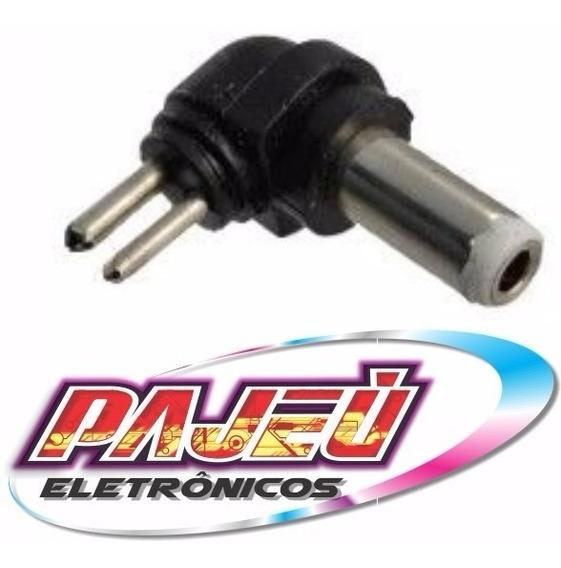 Conector Ponta Plug Fonte Carregador Universal Pino Branco