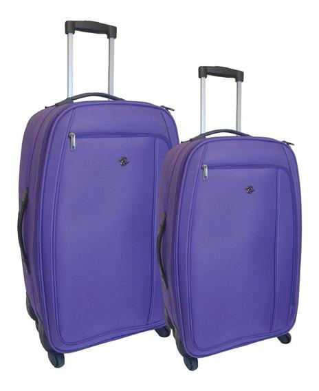 Valijas Viaje Tranist Set Cabina Y Grande 4 Ruedas Colores C