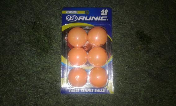 Pelotas Ping Pong Runic Beginners Paq 6 Unidades 40mm