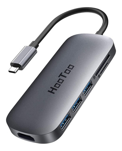 Imagen 1 de 8 de Hub Usb-c Adaptador Hdmi Macbook Pro Hootoo 100w Carga