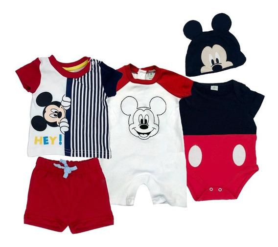 Kit Disney Mickey 2 Pañaleros Y 1 Conjunto Estampado