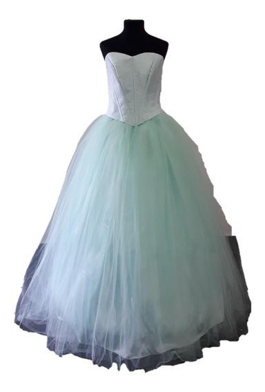 Vestido 15 Años Novias De 3 Piezas - Falda, Corset Y Enagua