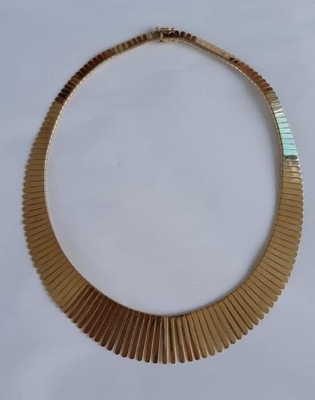 Colar Corrente Cordão Ouro 18 Xique 55 Gramas Feminino Lindo
