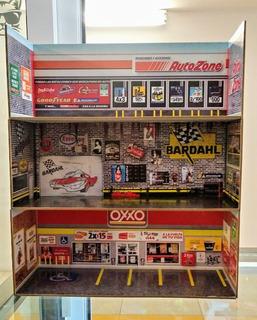 Diorama Pata Hot Wheels 1/64 Oxxo Garage Autozone Display