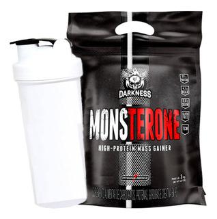 Monsterone 3kg Darkness Hipercalórico Integral + Shaker