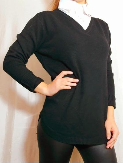 Swetear Hilo Cuello Camisa Perlas Importado Talle 1 Y 2