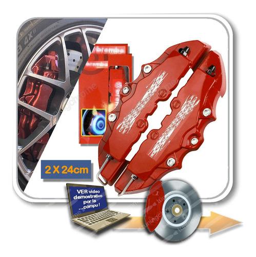 Cubre Caliper Universal 3d Rojo 19cm 24cm X Par Tuningchrome