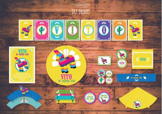 Mexico Piñata Kit Personalizado Imprimible Candy Bar