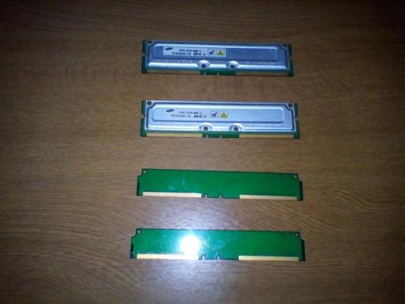 Memoria Rdram Samsung 64mb Pc800 X 2