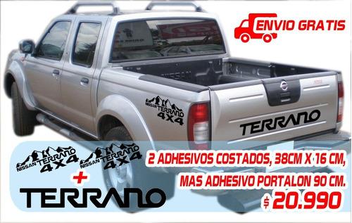 Adhesivos Nissan Terrano, Portalón Y Laterales 4x4